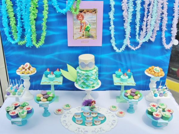 Little Mermaid Under the Sea themed birthday party via Kara's Party Ideas karaspartyideas.com #ariel #mermaid #themed #birthday #party #ideas #cake #decor #supplies (43)