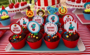 Circus Big Top Carnival Themed Party via Kara's Party Ideas karaspartyideas.com #circus #carnival #party #ideas #idea #cake #decor #supplies (3)