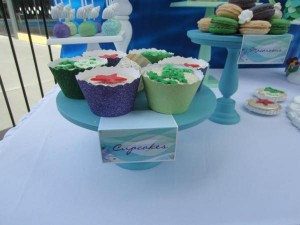 Little Mermaid Under the Sea themed birthday party via Kara's Party Ideas karaspartyideas.com #ariel #mermaid #themed #birthday #party #ideas #cake #decor #supplies (41)