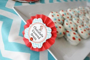 Thing One & Thing Two Dr Seuss Themed Birthday Party for twins via Kara's Party Ideas karaspartyideas.com supplies cake decorations gender neutral decor tips activities games books birthday (59)