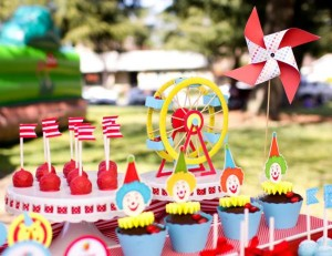 Circus Big Top Carnival Themed Party via Kara's Party Ideas karaspartyideas.com #circus #carnival #party #ideas #idea #cake #decor #supplies (27)