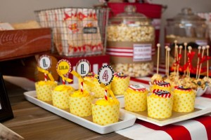 Vintage Movie Themed Birthday Party via Kara's Party Ideas KarasPartyIdeas.com #vintage #movie #party #birthday #planning #ideas #cake #decorations #favors #idea #supplies (37)