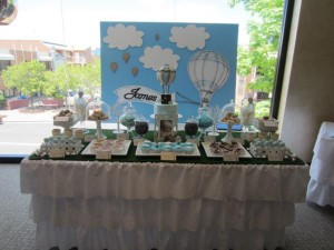 Hot Air Balloon Christening or birthday party via Kara's Party Ideas karaspartyideas.com #hot #air #balloon #christening #party #birthday #ideas #decor #cake (55)