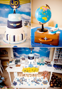 Airplane + Airline + Plane themed 1st birthday party via Kara's Party Ideas karaspartyideas.com #airplane #plane #airline #themed #birthday #party #idea #ideas #cake #decorations #favors #boys #dessert #games (2)