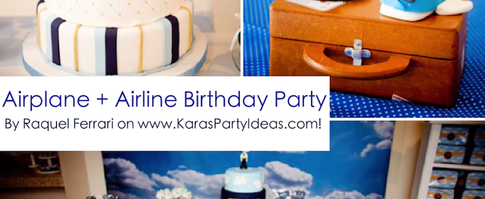 Airplane + Airline + Plane themed 1st birthday party via Kara's Party Ideas karaspartyideas.com #airplane #plane #airline #themed #birthday #party #idea #ideas #cake #decorations #favors #boys #dessert #games (1)
