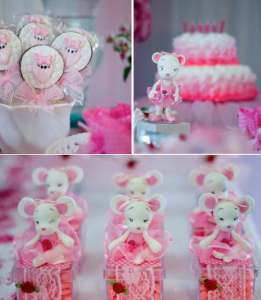 Angelina Ballerina Birthday Party via Kara's Party Ideas karaspartyideas.com #angelina #ballerina #ballet #themed #birthday #party #ideas #cake #desserts