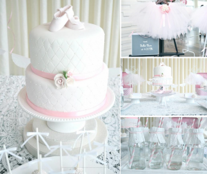 Ballerina : Ballet Class sweet themed birthday party via Kara's Party Ideas karaspartyideas.com #ballerina #sweet #girl #birthday #party #ideas #cake