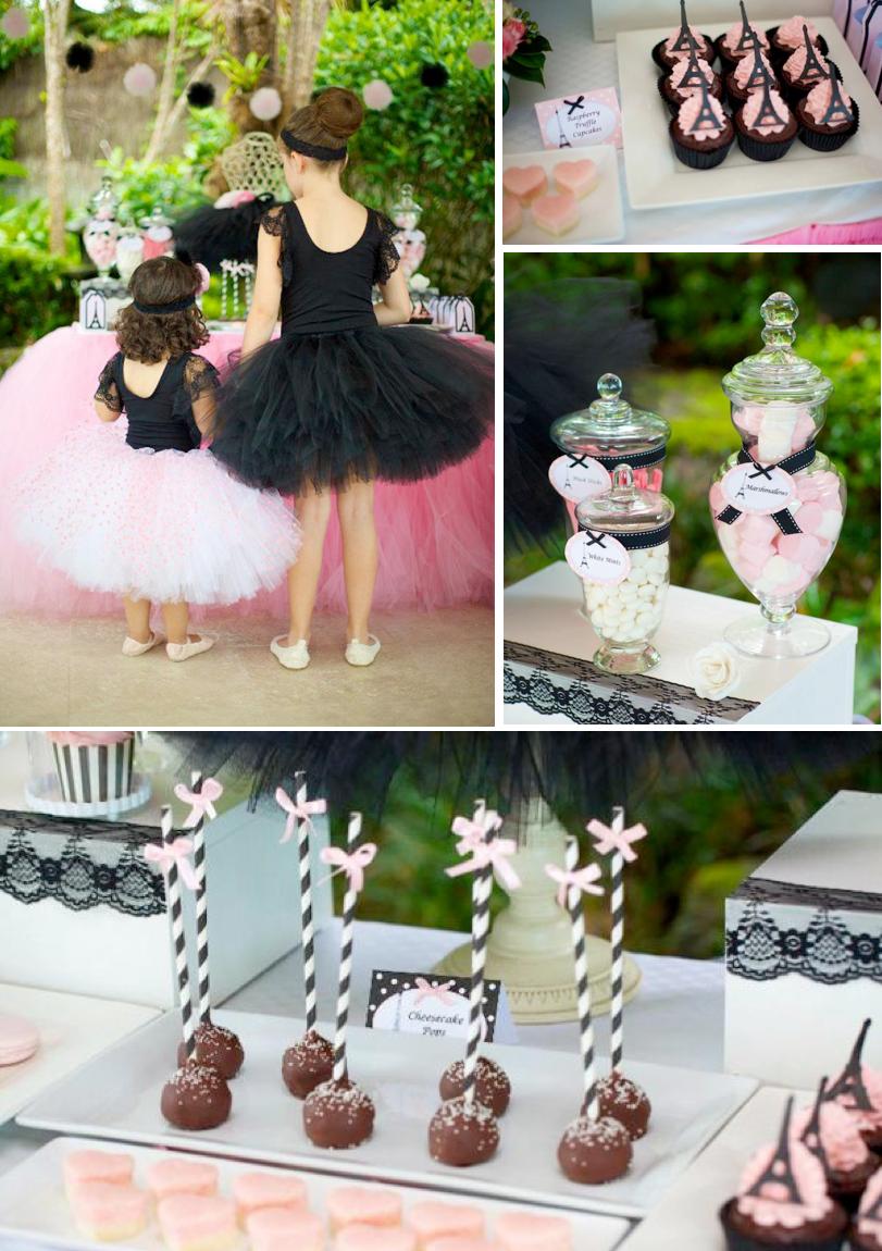 kara s party ideas parisan chic ballerina ballet pink black girl