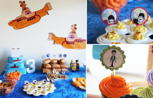 Beatles themed + yellow submarine birthday party via Kara's Party Ideas karaspartyideas.com #beatles #caek #party #yellow #submarine #ideas