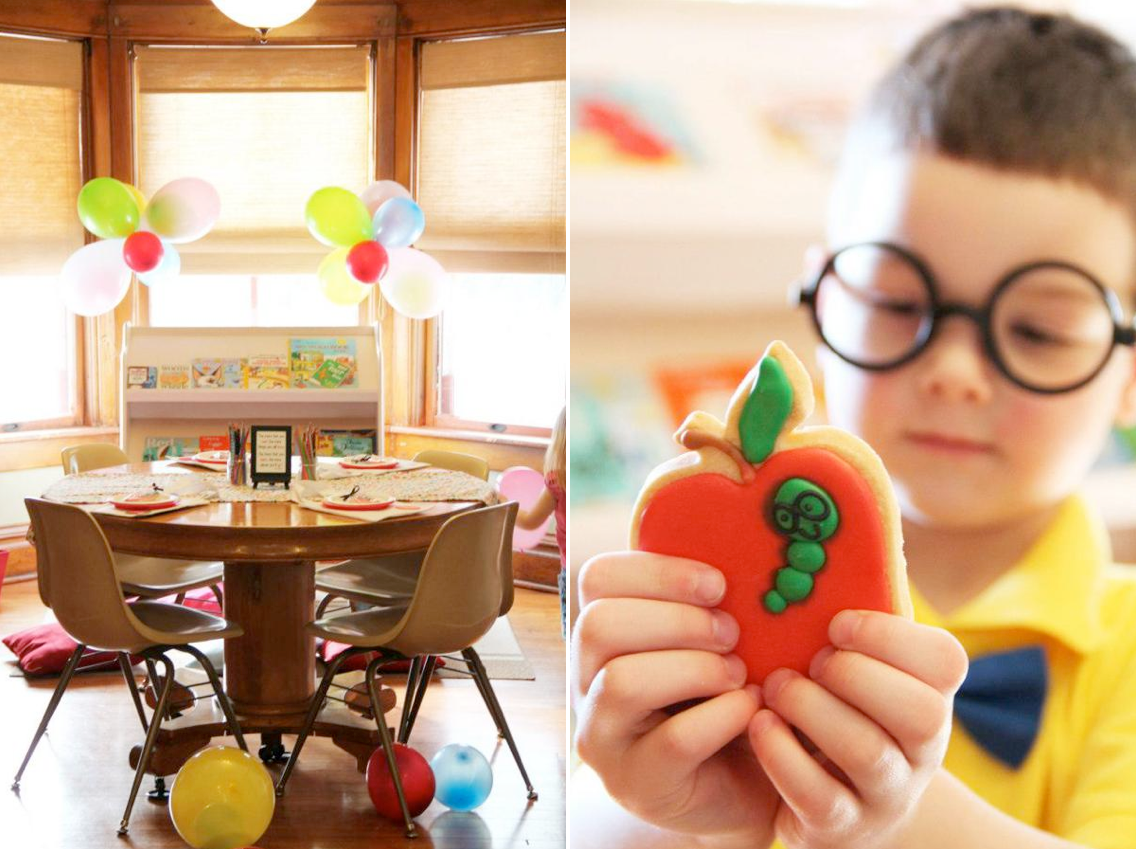 Bookworm themed birthday party via Kara's Party Ideas karaspartyideas.com #bookworm #book #themed #birthday #party #ideas