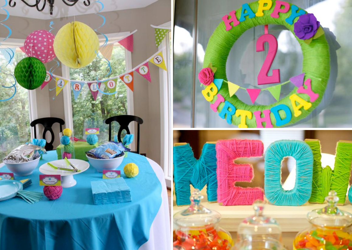 Kara 39 s party ideas cat kitty themed 2nd birthday party for 2nd birthday decoration ideas