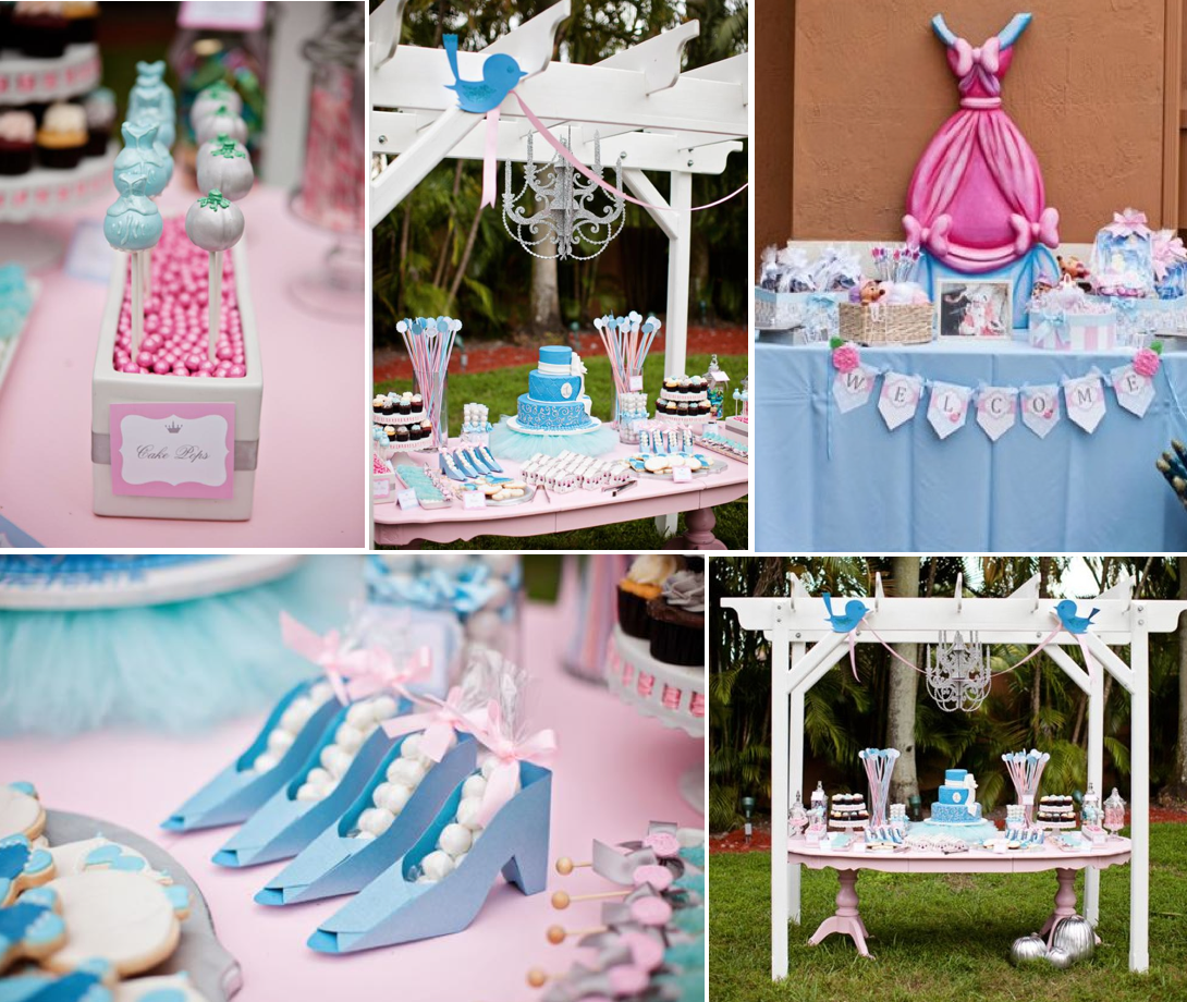 Princess Theme Decoration Ideas Part - 32: Karau0027s Party Ideas Disney Princess Cinderella Girl 1st Birthday Party  Planning Ideas