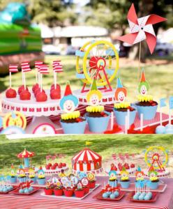 Circus Big Top Carnival Themed Party via Kara's Party Ideas karaspartyideas.com #circus #carnival #party #ideas #idea #cake #decor #supplies (1)