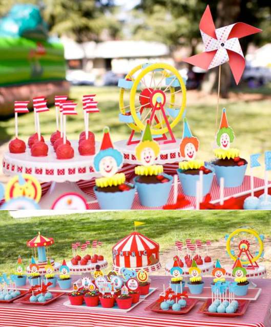 Circus Themed Decorations Ideas Part - 46: Karau0027s Party Ideas Circus Carnival Themed Boy Girl 1st Birthday Party  Planning Ideas