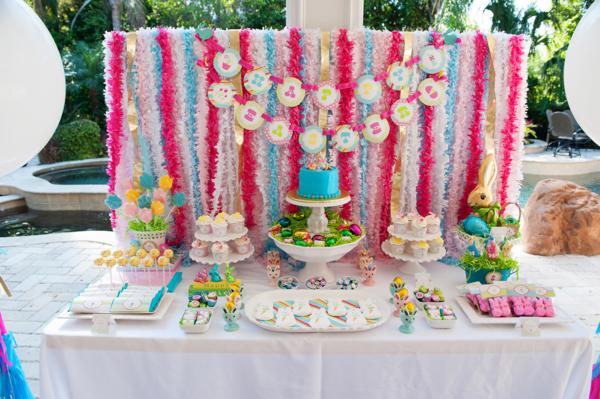 pastel easter themed spring party via karas party ideas karaspartyideascom classic easter - Spring Party Decorating Ideas