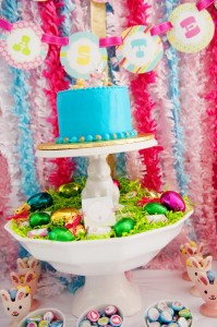 Pastel Easter themed spring party via Kara's Party Ideas karaspartyideas.com #classic #easter #pastel #party #spring #ideas #cake #decorations #tablescape #idea (29)