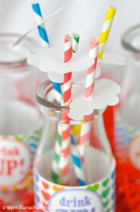 Rainbow birthday party printables party decor shop + party ideas via Kara's Party Ideas karaspartyideas.com (66)