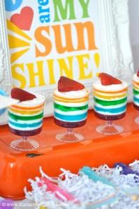 Rainbow birthday party printables party decor shop + party ideas via Kara's Party Ideas karaspartyideas.com (65)