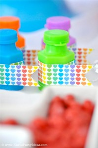 Rainbow birthday party printables party decor shop + party ideas via Kara's Party Ideas karaspartyideas.com (61)