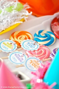 Rainbow birthday party printables party decor shop + party ideas via Kara's Party Ideas karaspartyideas.com (58)