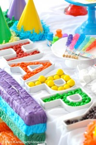 Rainbow birthday party printables party decor shop + party ideas via Kara's Party Ideas karaspartyideas.com (50)