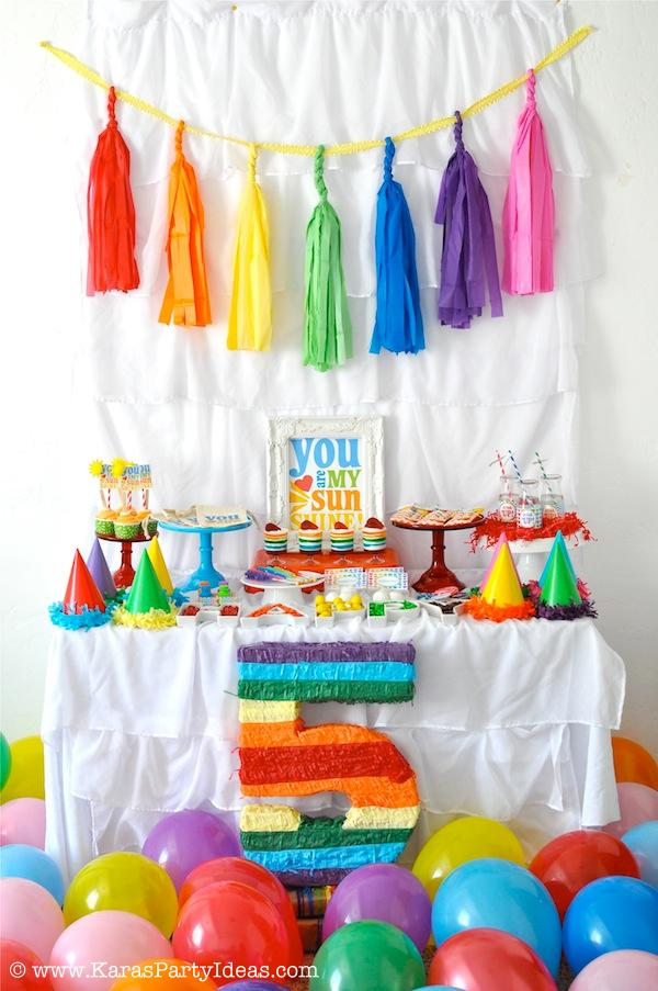 Karas Party Ideas Rainbow Themed Birthday Party Karas Party
