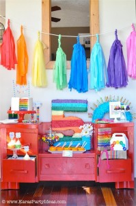 Rainbow birthday party printables party decor shop + party ideas via Kara's Party Ideas karaspartyideas.com (46)