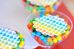 Rainbow birthday party printables party decor shop + party ideas via Kara's Party Ideas karaspartyideas.com (39)