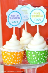 Rainbow birthday party printables party decor shop + party ideas via Kara's Party Ideas karaspartyideas.com (32)