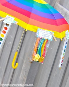 Rainbow birthday party printables party decor shop + party ideas via Kara's Party Ideas karaspartyideas.com (31)