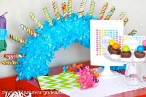Rainbow birthday party printables party decor shop + party ideas via Kara's Party Ideas karaspartyideas.com (29)