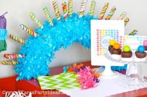 Rainbow birthday party printables party decor shop + party ideas via Kara's Party Ideas karaspartyideas.com (29)
