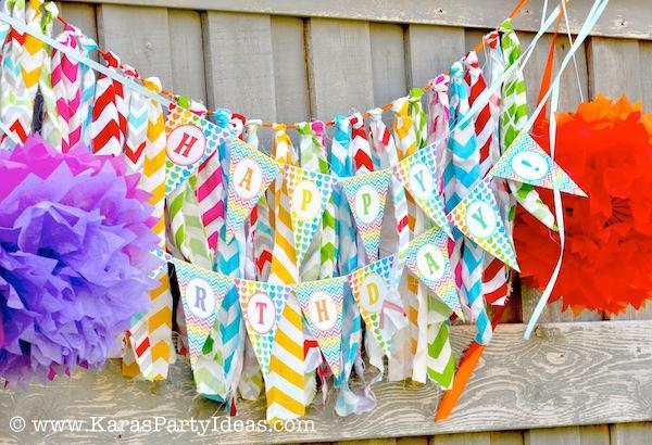 Kara's Party Ideas Rainbow Themed Birthday Party | Kara's Party ...
