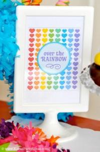 Rainbow birthday party printables party decor shop + party ideas via Kara's Party Ideas karaspartyideas.com (24)