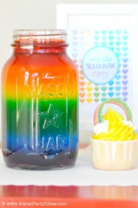 Rainbow birthday party printables party decor shop + party ideas via Kara's Party Ideas karaspartyideas.com (15)