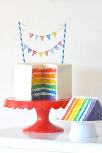 Rainbow birthday party printables party decor shop + party ideas via Kara's Party Ideas karaspartyideas.com (12)