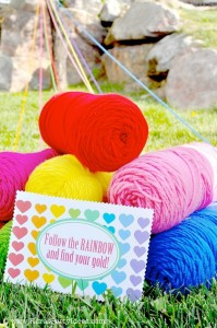 Rainbow birthday party printables party decor shop + party ideas via Kara's Party Ideas karaspartyideas.com (5)