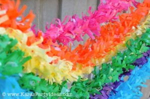 Rainbow birthday party printables party decor shop + party ideas via Kara's Party Ideas karaspartyideas.com (3)