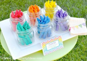 Rainbow birthday party printables party decor shop + party ideas via Kara's Party Ideas karaspartyideas.com (2)