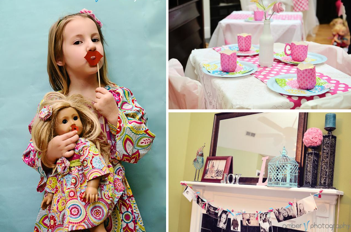 Dollie and me tea party + american girl party via Kara's Party Ideas karaspartyideas.com