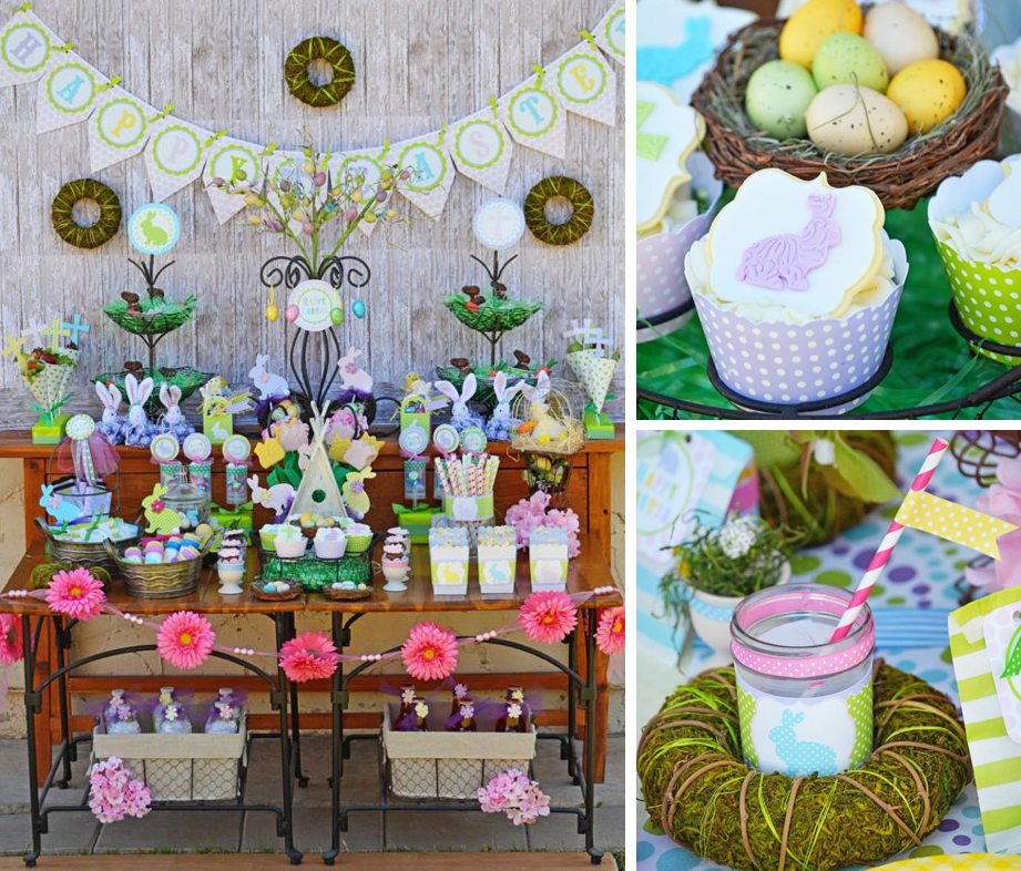 Kara S Party Ideas Easter Dessert Buffet Party Free Printables