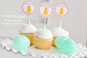 FREE Easter Party Printable Tags + Cupcake Toppers via Kara's Party Ideas KarasPartyIdeas.com-10 (7)