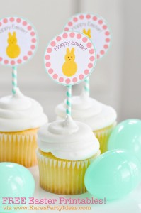 FREE Easter Party Printable Tags + Cupcake Toppers via Kara's Party Ideas KarasPartyIdeas.com-10 (6)