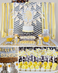 Gender Neutral YOU ARE MY SUNSHINE BABY SHOWER via Kara's Party Ideas karaspartyideas.com #sunshine #you #are #my #gender #neutral #baby #shower #party #ideas #birthday #1st