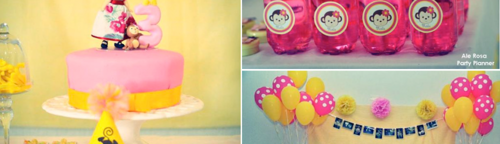 Girly monkey themed birthday party via Kara's Party Ideas karaspartyideas.com #girly #monkey #themed #party #ideas #idea #birthday (1)