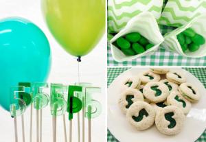 Green themed boys birthday party (perfect st patrick's day party) via Kara's Party Ideas karaspartyideas.com #green #boy #party #ideas #st #patrick's #day
