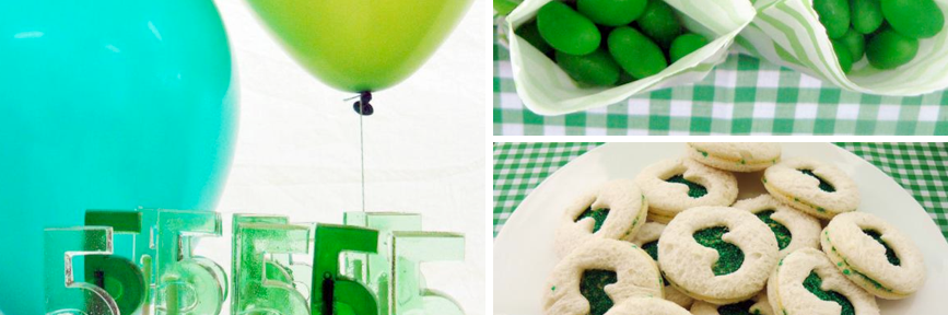Green themed boys birthday party (perfect st patrick's day party) via Kara's Party Ideas karaspartyideas.com #green #boy #party #ideas #st #patrick's #day