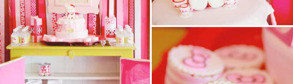 Hello Kitty Themed Birthday Party via Kara's Party Ideas karaspartyideas.com #hello #kitty #birthday #party #ideas #cake