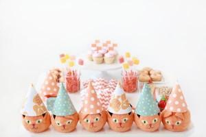 Orange Cat + Kitty Themed Birthday Party via Kara's Party Ideas karaspartyideas.com toddler craft idea (3)