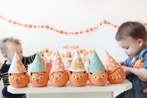 Orange Cat + Kitty Themed Birthday Party via Kara's Party Ideas karaspartyideas.com toddler craft idea (1)